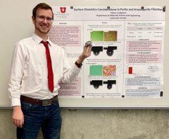 Undergraduate Tristan Lundgren presents at SME Conference